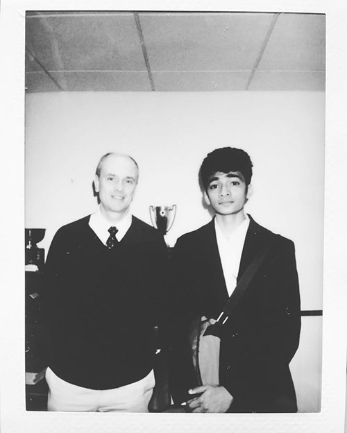 Me and Alexander Travis, associate dean of international programs and public health at the College of Veterinary Medicine