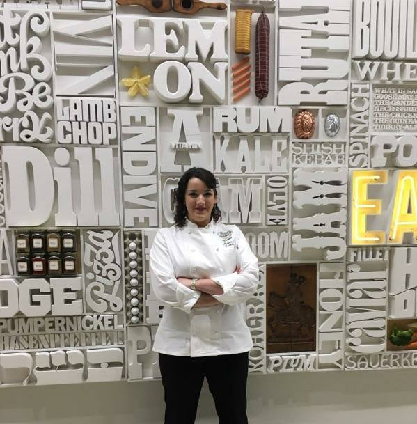 Portrait of Megan Larkin '17 at her graduation from the Culinary Institute of America