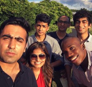 Shantanu Naidu and friends during pre-term 2016