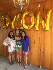 Archana Choudhary '18, me, and Angel Ding '18 at the Dyson Senior Gala, where we helped with the event.