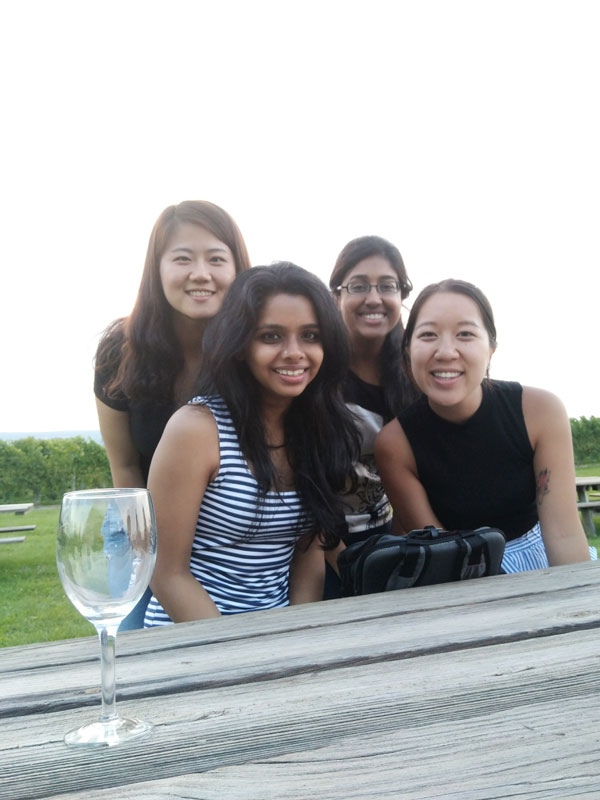First-year MBAs at Wagner Winery