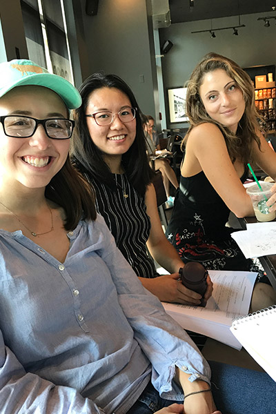 Work session at Starbucks with classmates