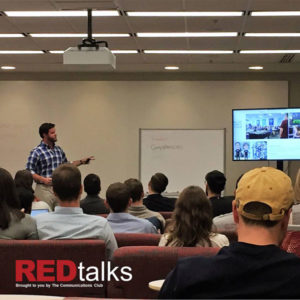 Matt Ford, MBA '19, addressed his classmates during his REDtalk