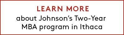 Link to learn more about Johnson's Two-Year MBA program in Ithaca