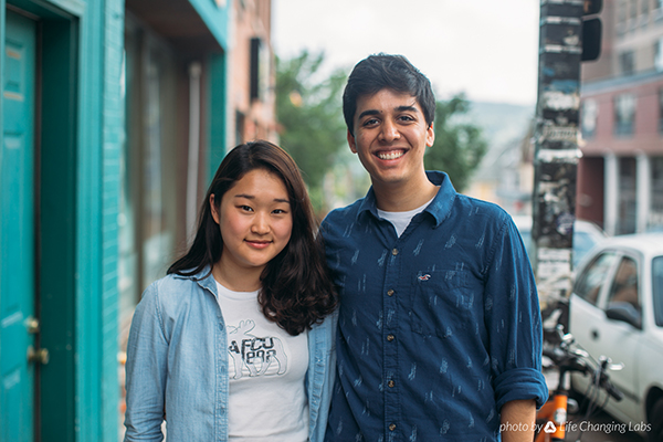 Image of Michelle Jang '17 (left) and Adi Agashe '17 (right), co-founders of Belle Delivery
