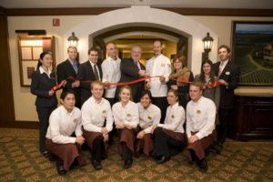 Photo of the ribbon cutting at the new Taverna Banfi