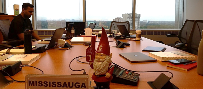 Photo of Adil Haider in the Toronto boardroom
