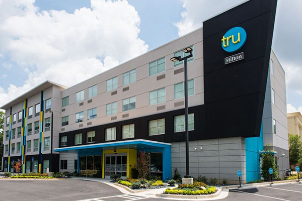 Photo of the exterior of Tru by Hilton