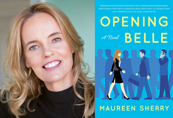 """Maureen Sheery and her book cover """"Opening Belle"""""""