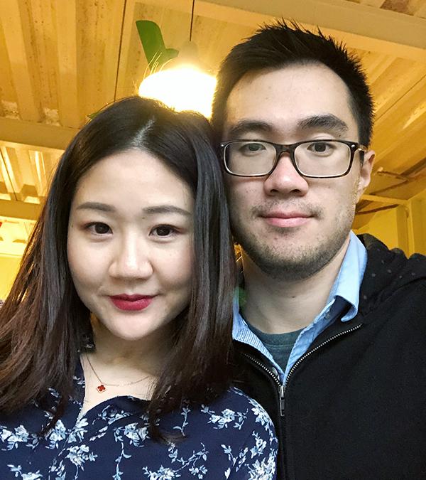 Photo of Liam Li and Julia Zhu