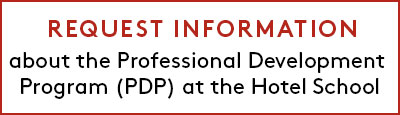 Button to request more information about the Professional Development Program PDP