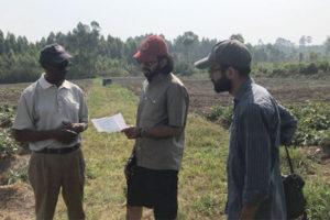 Photo of Uganda SMART team on the farm