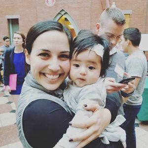 """Abby with her """"Aunt"""" Lauren"""