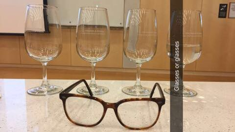 Photo of glasses and wine glasses