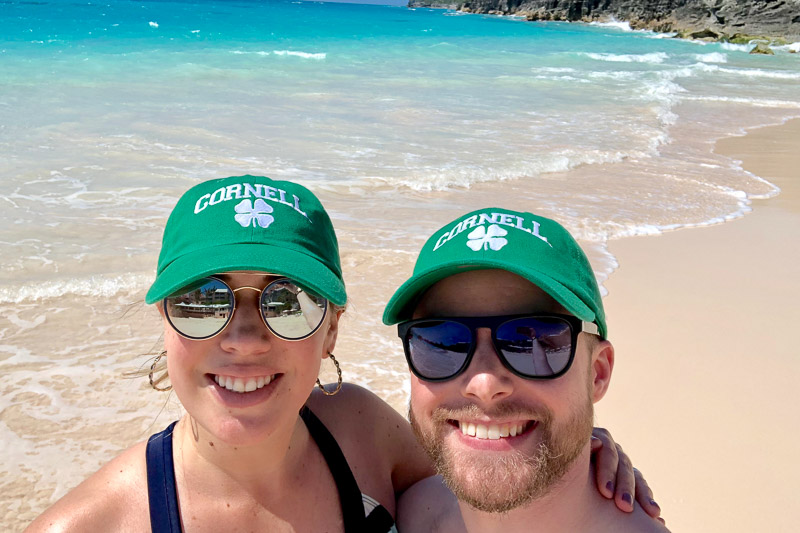 Photo of Nick and Katie on the beach