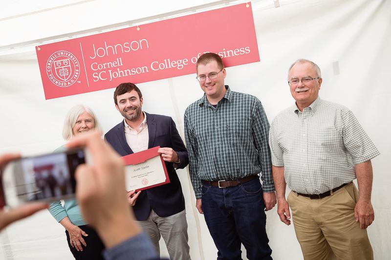 Photo of awardees having their photo taken