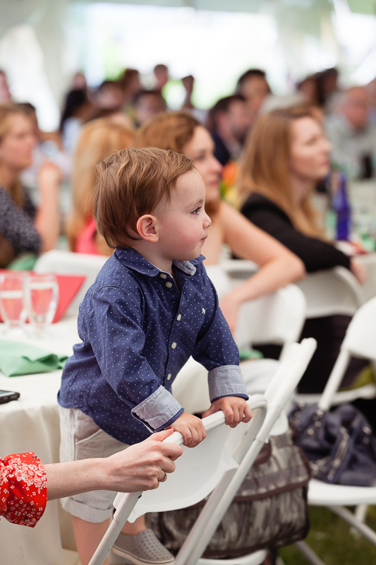 Photo of a child watching the presentation