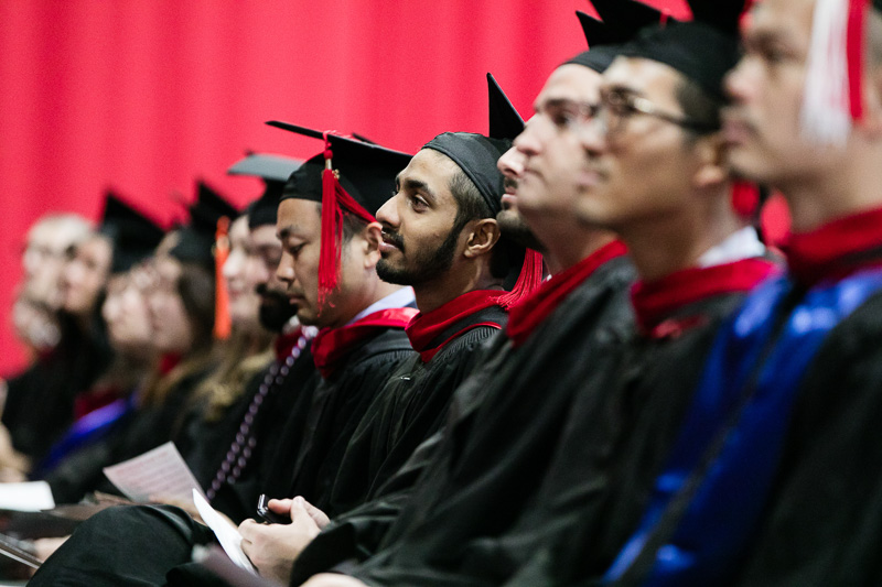 Photo of students listening to Dean Walsh