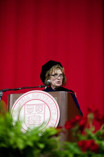 Photo of Linda at the podium