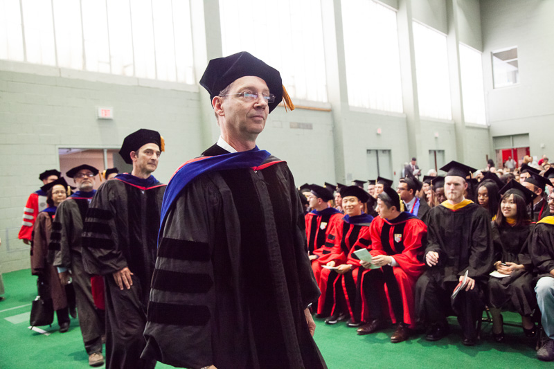 Photo of faculty entering