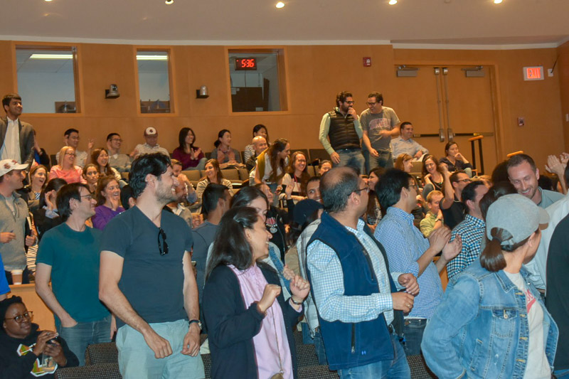 Photo of audience dancing