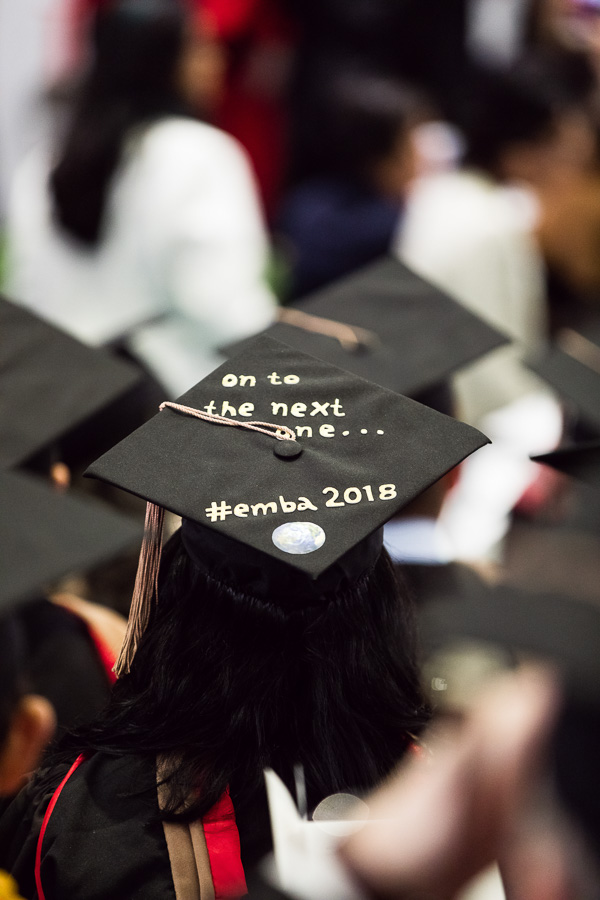 "Photo of a cap that says ""on to the next one #emba2018"""