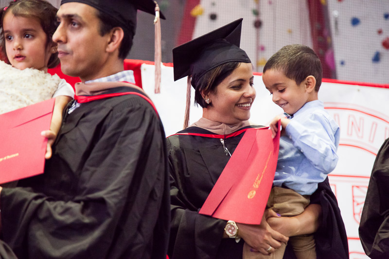 Photo of a graduate and her son