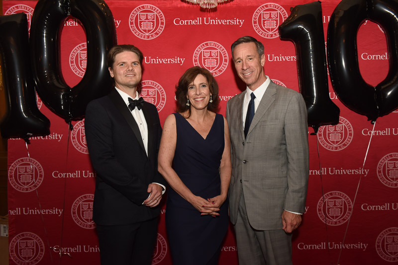Photo of Dean Walsh, Tim, and Arne in front of the SHA step-and-repeat on the red carpet