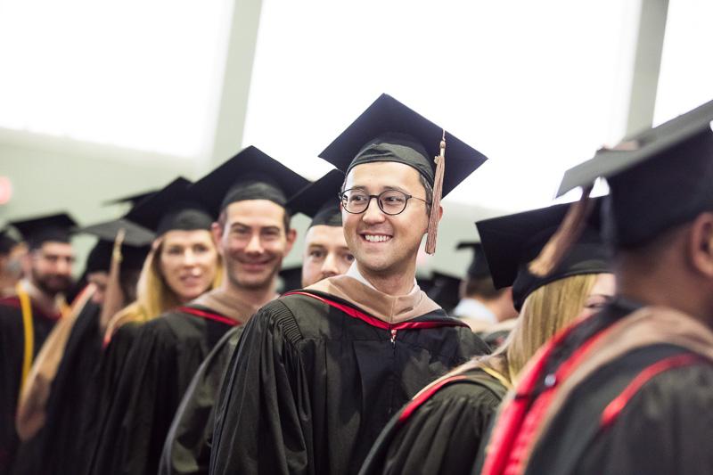 Photo of graduates walking