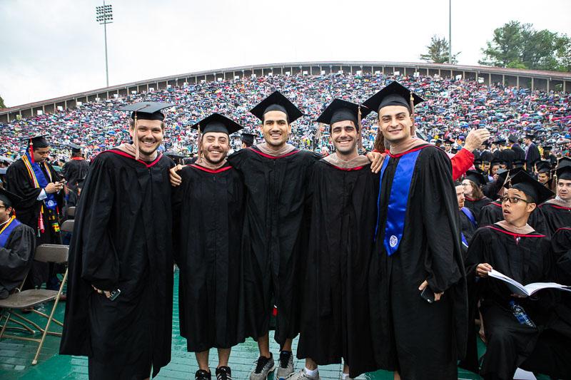 Photo of graduates in the stadium