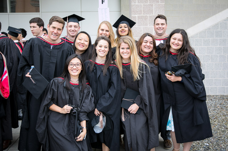 Photo of grads posing for a picture