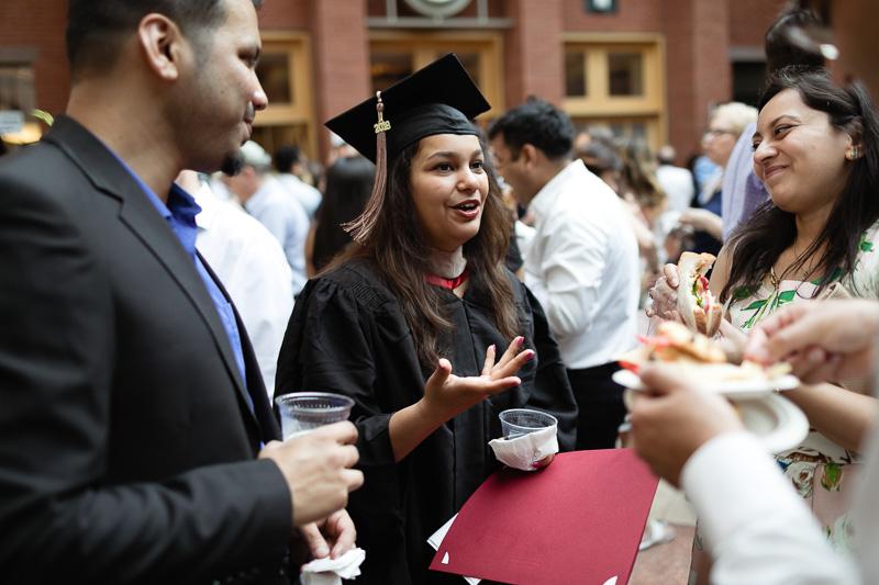 Photo of a female graduate