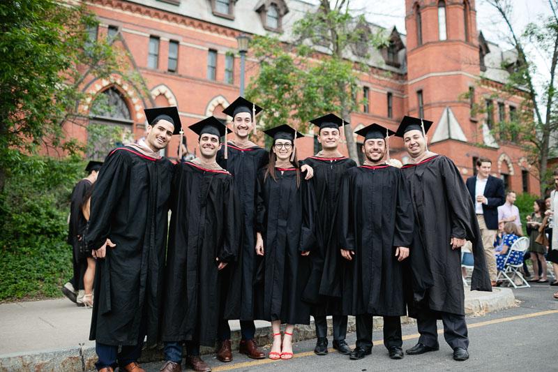 Photo of graduates outside Sage Hall