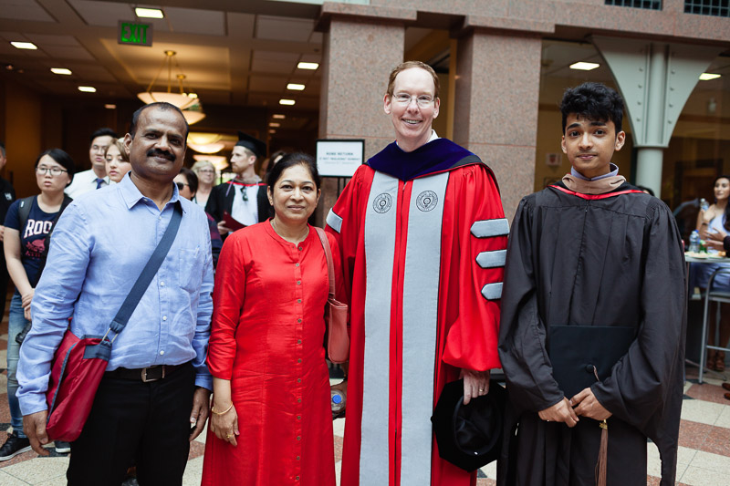 Photo of Dean Nelson, a graduate, and his family
