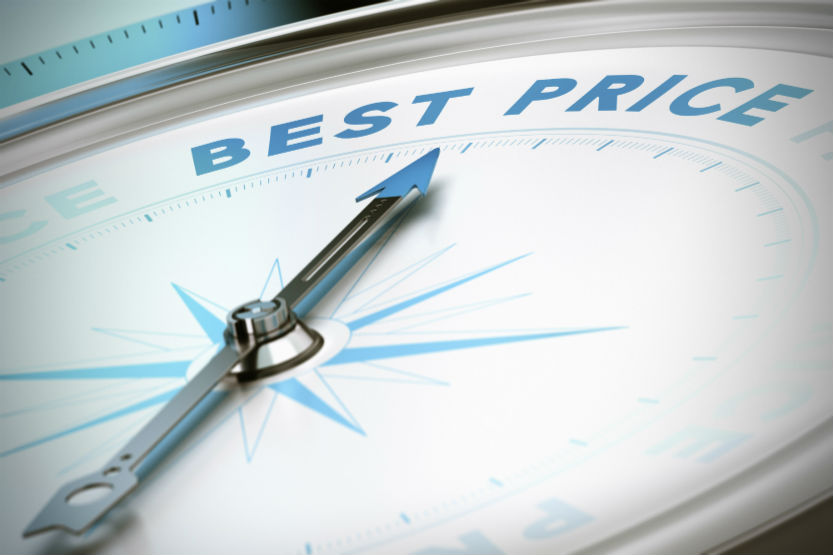 Compass pointing toward the words Best Price