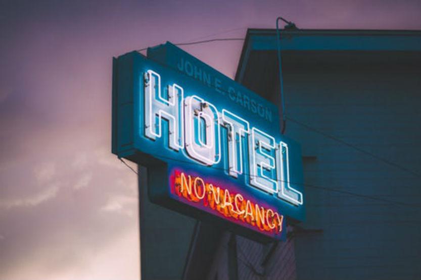No Vacancy Hotel Neon Sign