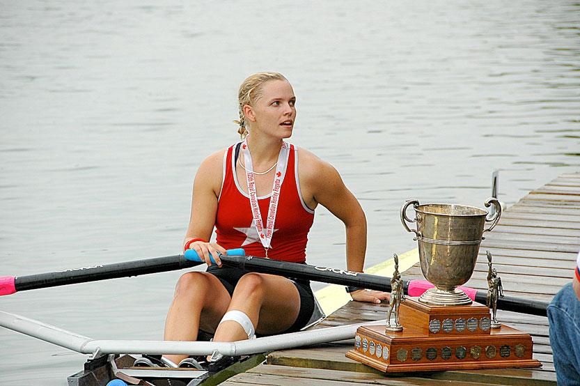 Liz Mygatt after winning the Championship