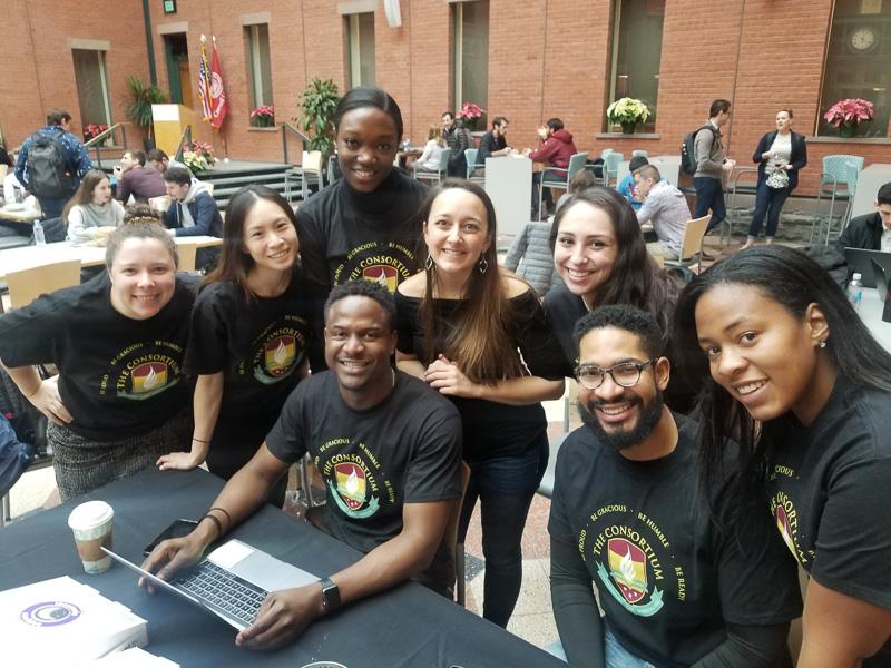 Consortium students smiling