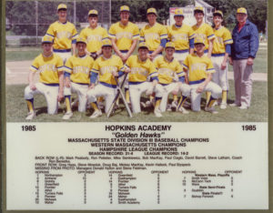 1985 baseball team photo with roster