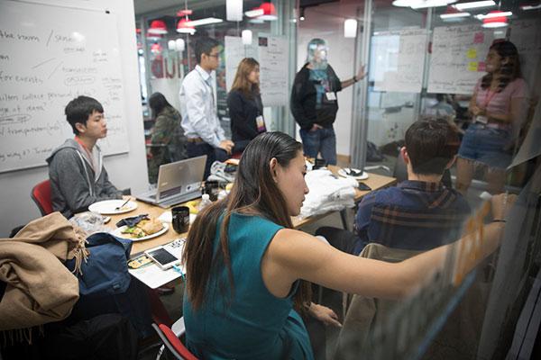 Hospitality Hackathon participants