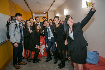 Students from Hong Kong participating in the Real Estate competition