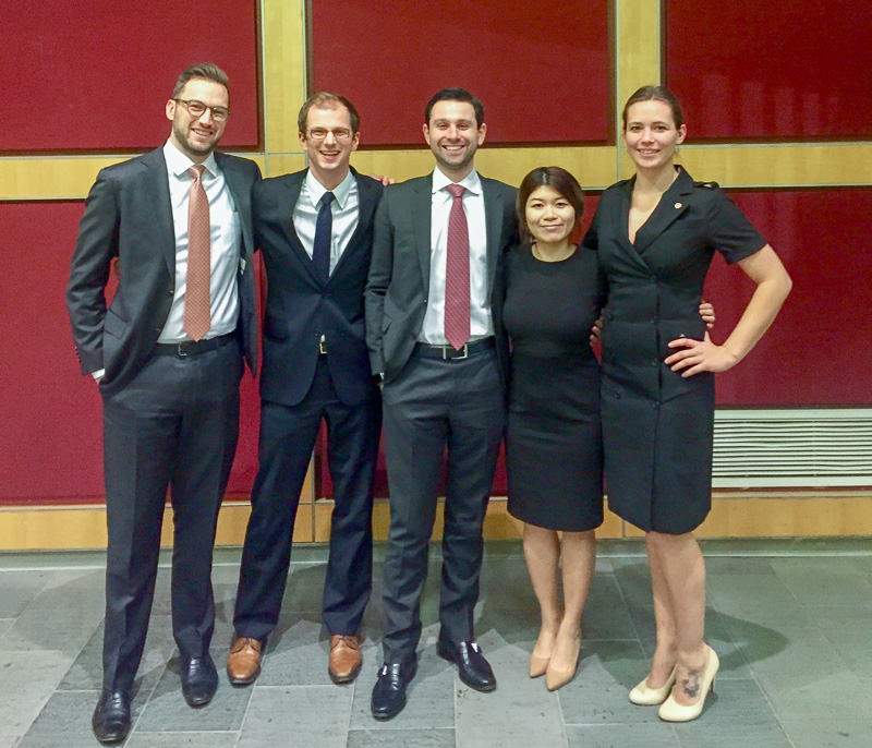 Five people in business attire