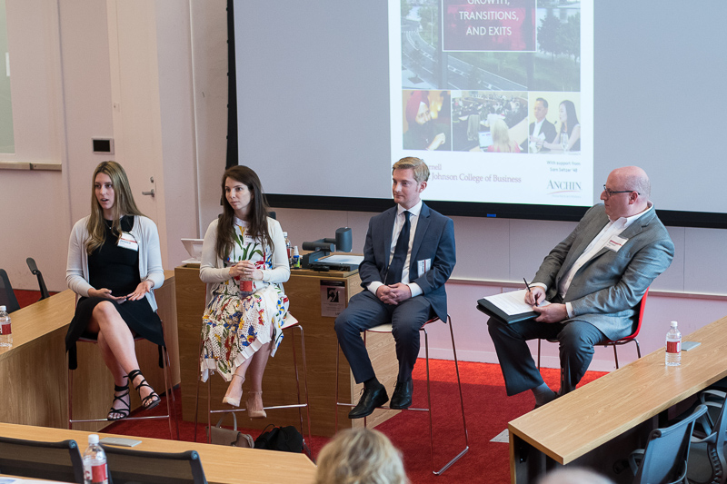 Panel of current students and an alumna