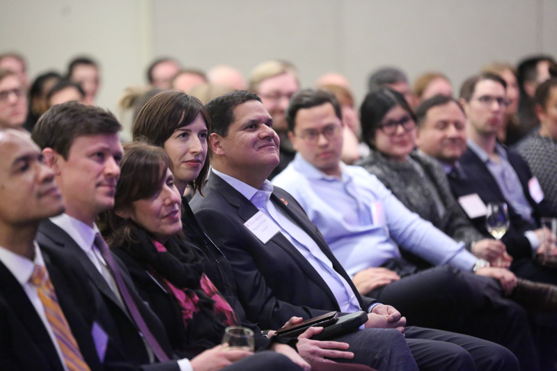 Reggie in the audience at the event