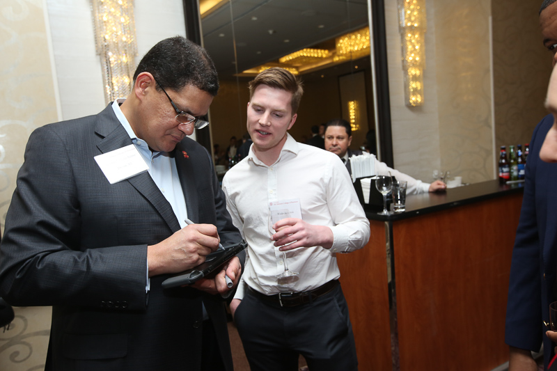 Reggie signing a Switch