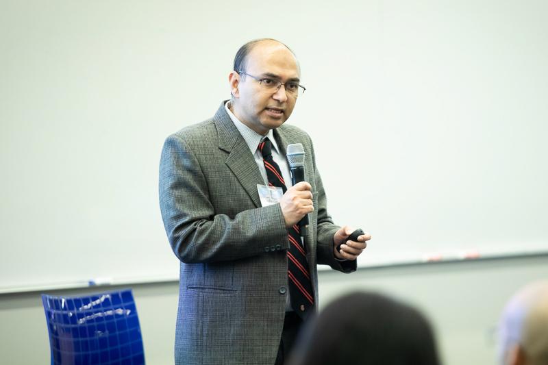 Vishal Gaur at the front of the room