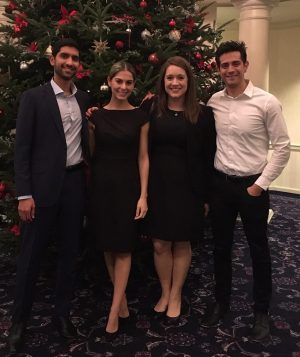 The team during the opening kick-off reception at Penn State (left to right: Keith Devas, Sabina Bellizzi, Allison Latham and Marco DeLeon).