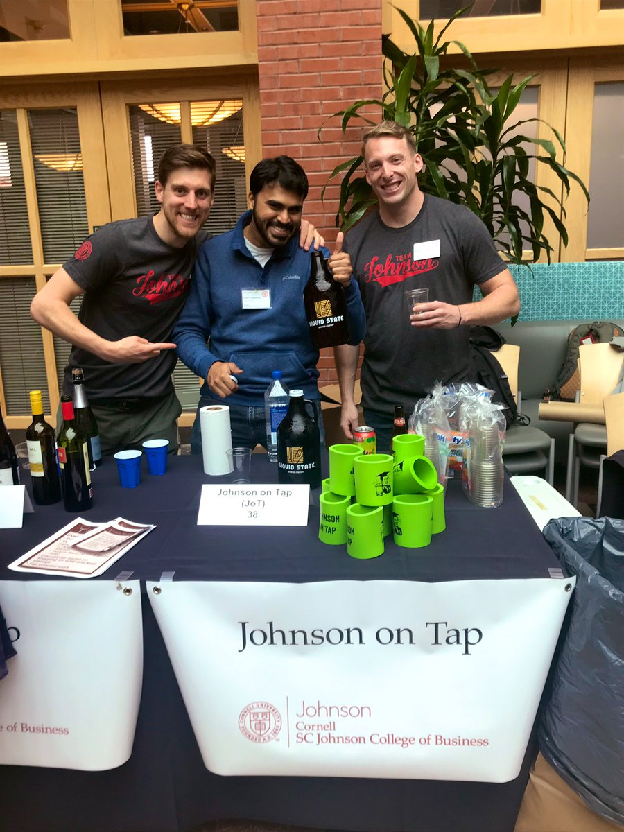 Members of the Johnson on Tap club