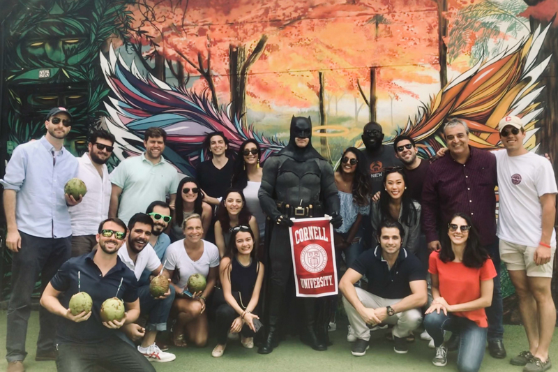 Group of MBAs at Batman Alley