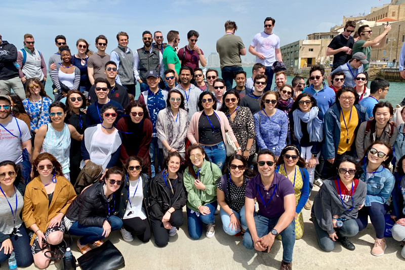 Large group photo in Jaffa